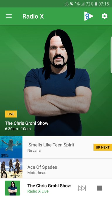 @ChrisMoyles @RadioX I need this filter! Happy birthday Dave! #RadioGrohl #DaveGrohl Photo