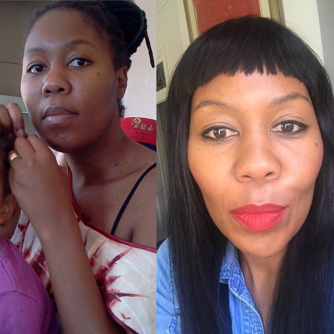 #HowHardDidAgeHitYou 2008 vs 2018. Baby-making days over, cameras got better, invested in Ruby Woo lipstick. 🙅🏽♀️ Photo