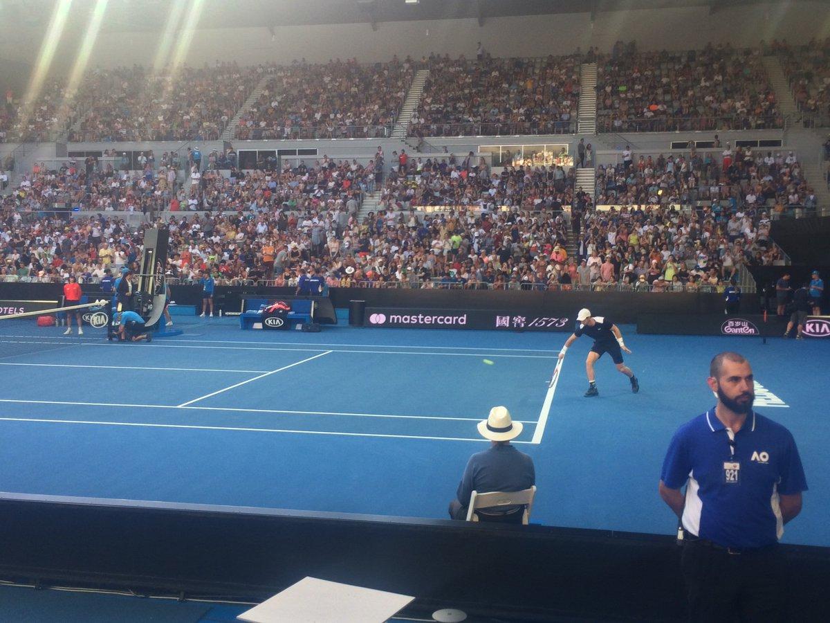 Possibly Andy Murray's final match. Come on Muzza. #AusOpen  #BBCTennis<br>http://pic.twitter.com/EM0EJS9Zsx