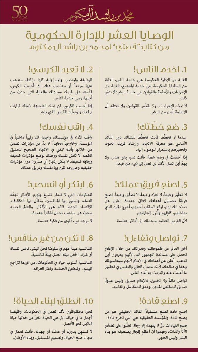 كتاب الشيخ محمد بن راشد