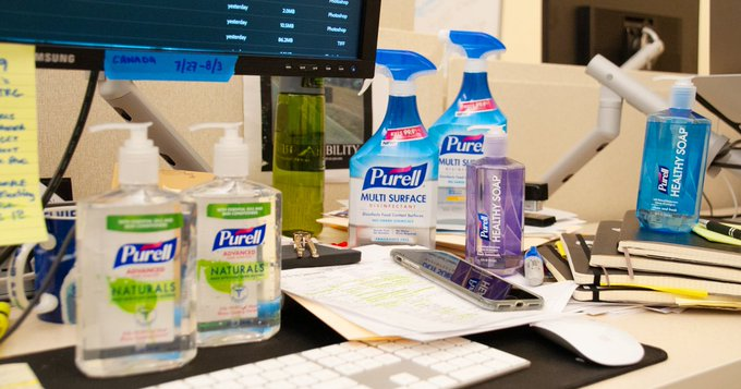 Want to win a free PURELL® product? Head over to our Facebook page and enter our #CleanOffYourDeskDay sweepstakes! Photo