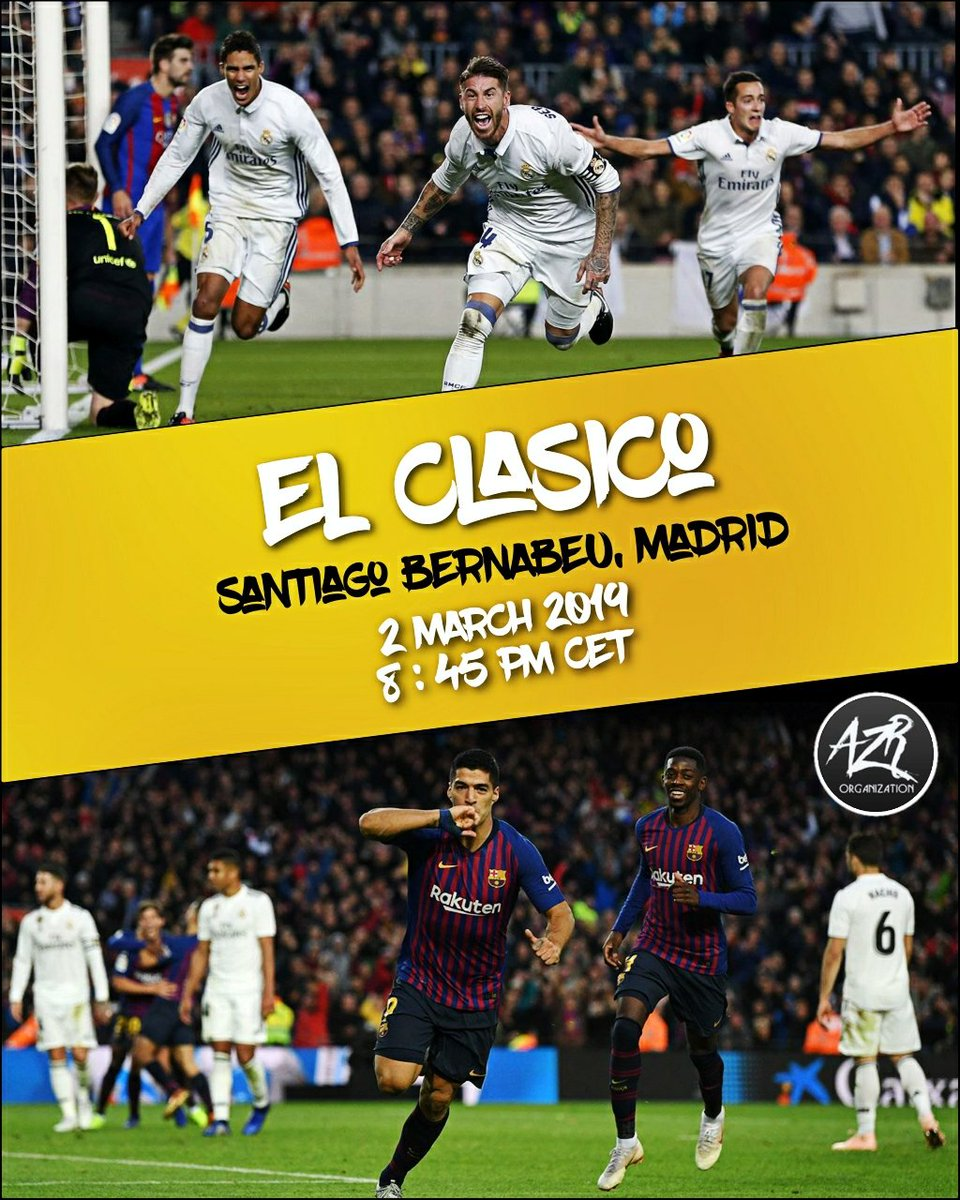 Mark Your Calendars Now! 🔥 . . #elclasico #realmadrid #barcelona #lionelmessi #sergioramos