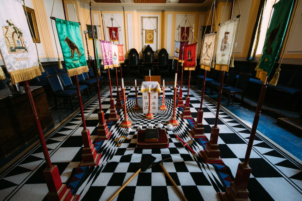 Our new header image is this beautifully kitted-out chapter room here at @FreemasonsHall  © Kenji Kudo / http://kudokenji.com