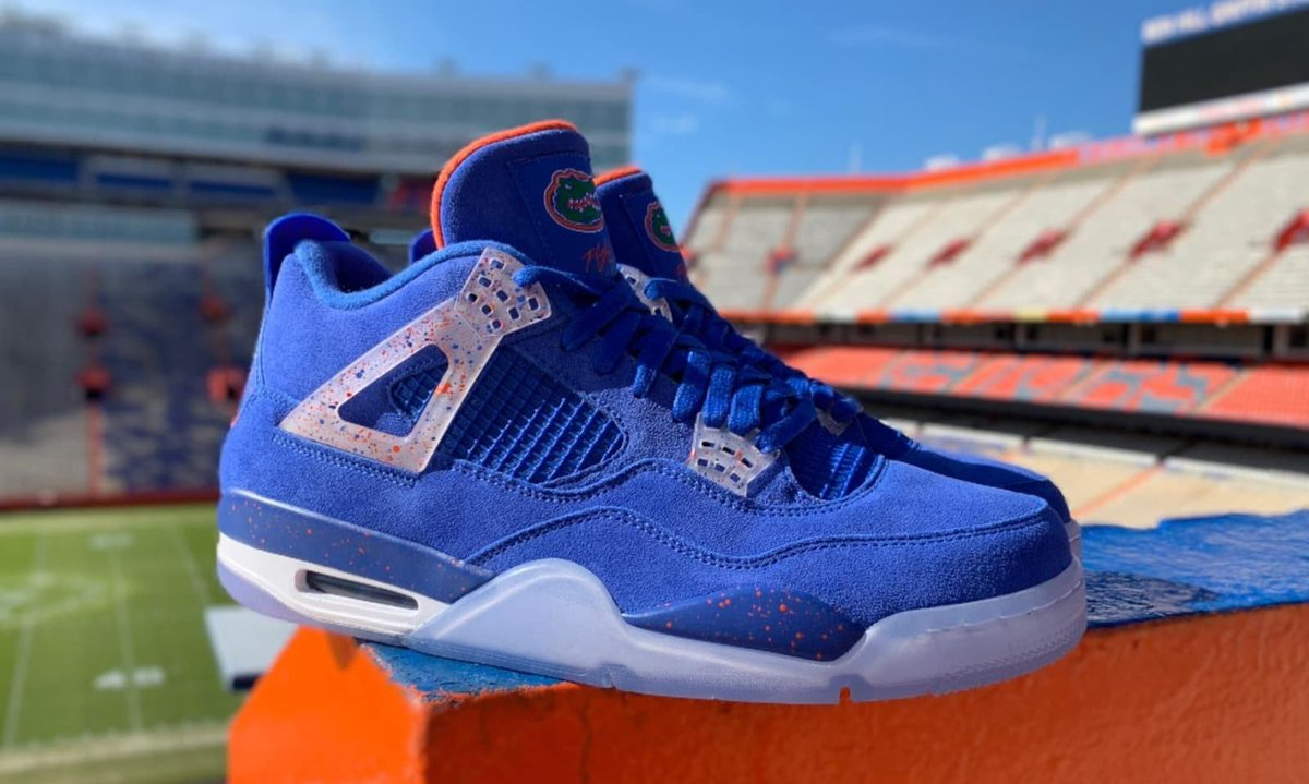 103dc513334898 enjoy a detailed look at the florida gators air jordan 4 pes