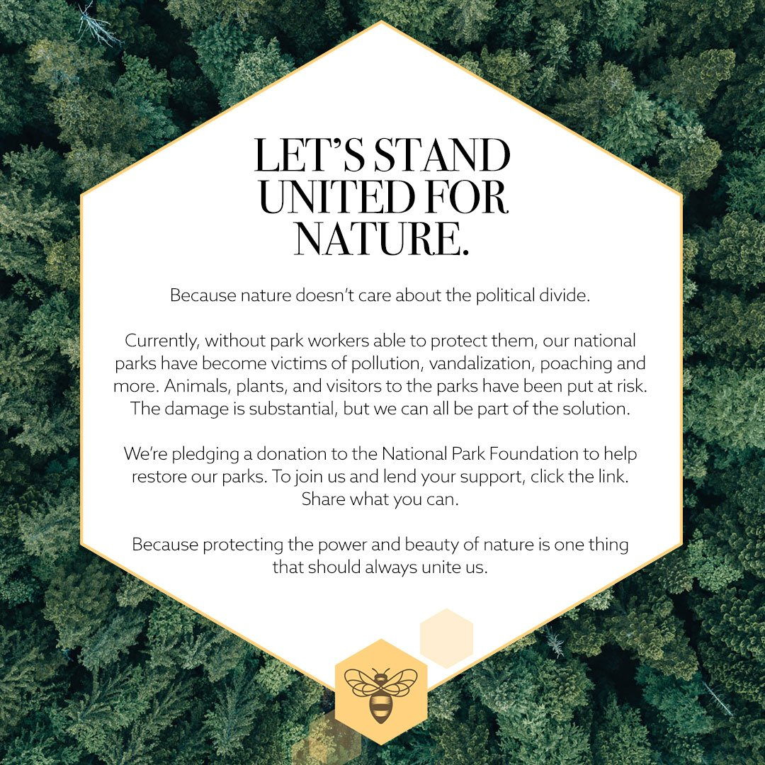 We're proud to stand with @thenorthface in pledging to support our national parks when they need it most. Join us http://brtsbe.es/nationalparks #WeAreParks #GiveBackToNature #TrueForceofNature