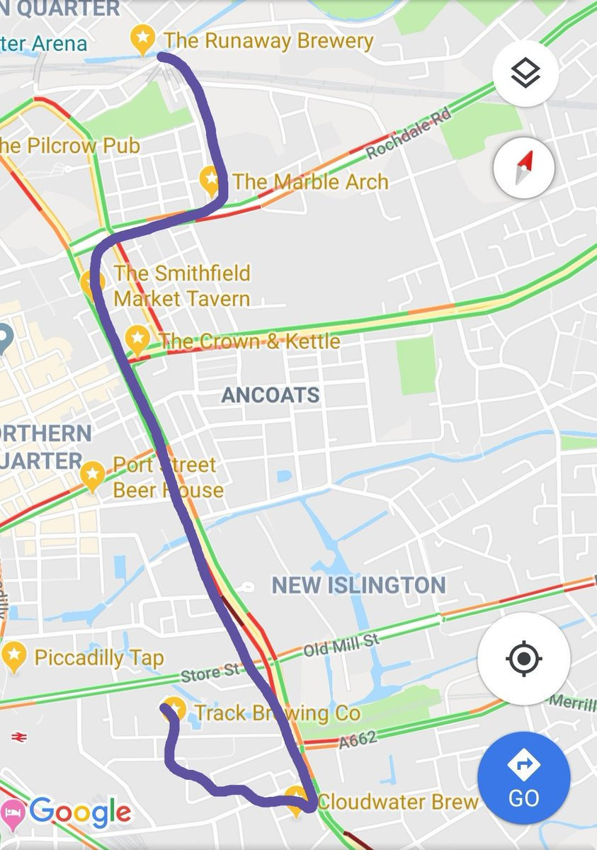 The first Big Beer Social of 2019 for #Tryanuary is on Saturday! Starting at 2pm @RunawayBrewery for their first opening this year  then @TheMarbleArch @TheSmithfieldNQ @cloudwaterunit9  @trackbrewco  But you can see that in this no expense spared map! All are welcome! <br>http://pic.twitter.com/4PEbI1ypYx