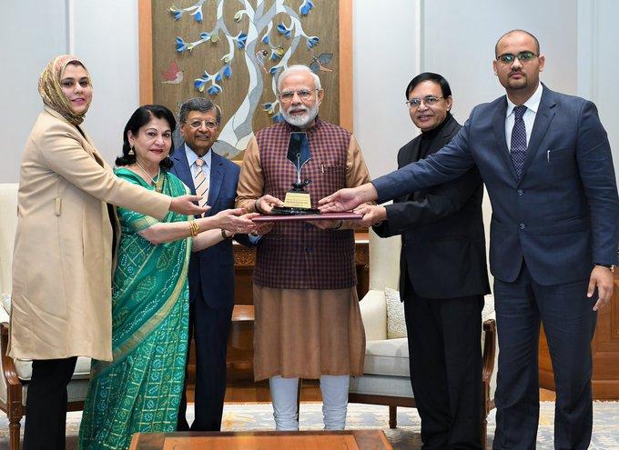 First-ever Philip Kotler Presidential award presented to Prime Minister Shri @narendramodi : Photo