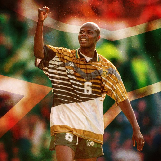 Today we pay homage to South African football legend Philemon Masinga. 'Chippa' will always be remembered for his memorable goal against Congo in 1997 that sealed Bafana Bafana's place at the 1998 FIFA World Cup. A giant has fallen. RIP 'Chippa' Photo