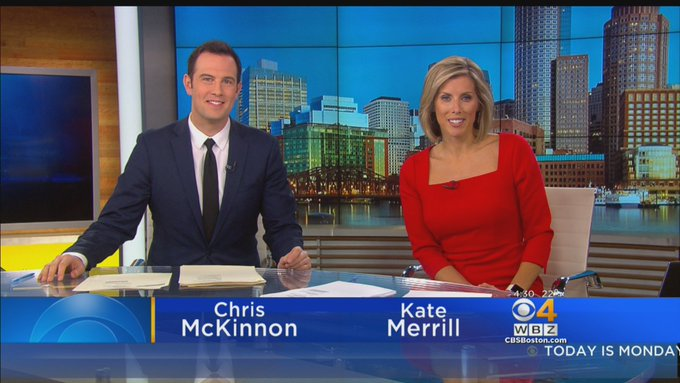 Good monday morning! Coming off a big @Patriots win and potential for snow in the forecast. Join us for #WBZ This Morning until 7am! #GoPats Foto
