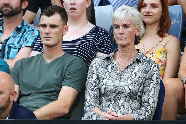 A big day for the Murrays. Jamie with Judy on Melbourne Arena. [getty] #AusOpen Photo