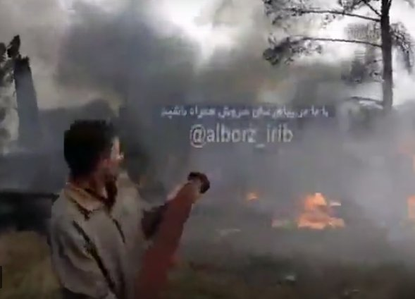 New videos released after a Boeing 727 crashed crashed in city of Karaj, Iran Фото
