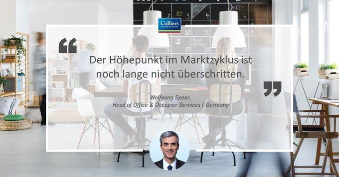 In den sieben deutschen Bürozentren wurden 2018 gut 3,8 Millionen Quadratmeter Büroflächen umgesetzt. Der 10-Jahresdurchschnitt konnte damit um 17 Prozent übertroffen werden.<br><br>Alle Informationen:  t.co/OX5UxjEK5F