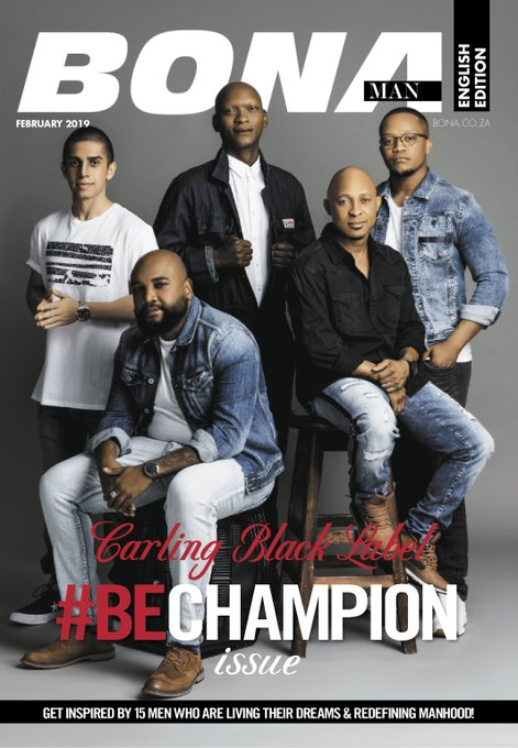 @blacklabelsa's purpose is to empower and rally a new order of Champions. The #BECHAMPION movement has taken its form by partnering with an annual issue of @BonaManSA magazine to recognise everyday South African men who embody the values of a Champion #BeChampion Photo