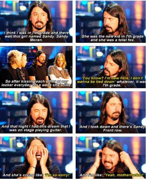 Happy 50th birthday to the coolest man in the world. everyone should be a little more like dave grohl