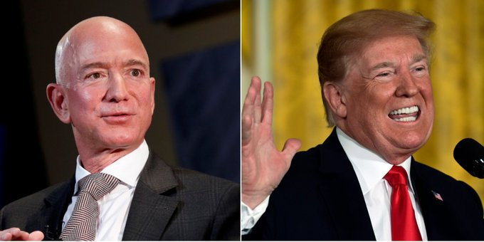 Trump invented a new nickname for Jeff Bezos in a tweet mocking his divorce Photo