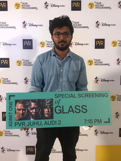 Superhero film with horror feels ... just what Mondays are all about ! The movie buffs are out to get their fix #GlassAtMAMI #MAMIYearRoundProgramme @DisneyIndia Photo