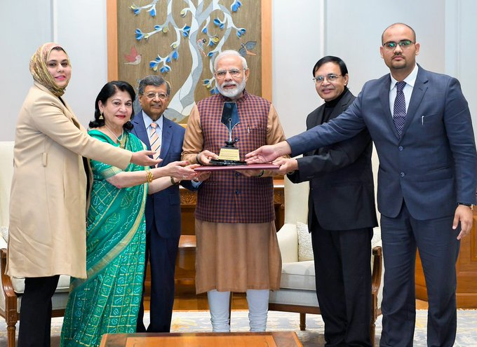 Congratulations to PM @NarendraModi for being awarded the first-ever Philip Kotler Presidential Award, recognising the success of various reforms undertaken under his leadership such as Digital India, Swachh Bharat, and Make in India initiative Photo