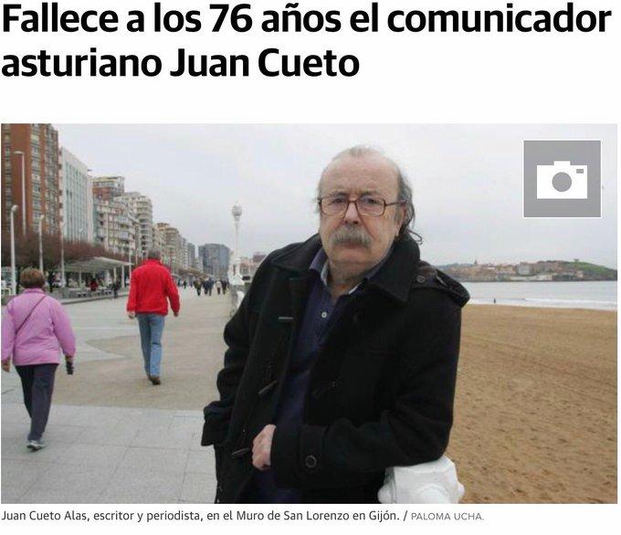 Podemos leer en El Comercio el fallecimiento de Juan Cueto Alas, gran periodista y escritor. Descanse en paz Foto