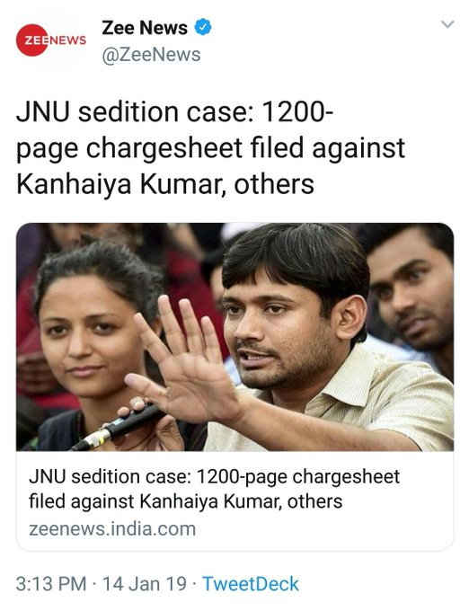 Special thanks to Jawaharlal Nehru who made amendment in constitution [19 (1)(a)] because of his contribution, today government of Indian can fulfill his constitutional duties.😜 #JNUseditioncase #JNUChargesheet Photo
