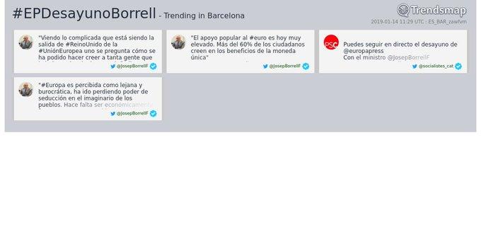 #epdesayunoborrell es ahora una tendencia en #Barcelona Foto