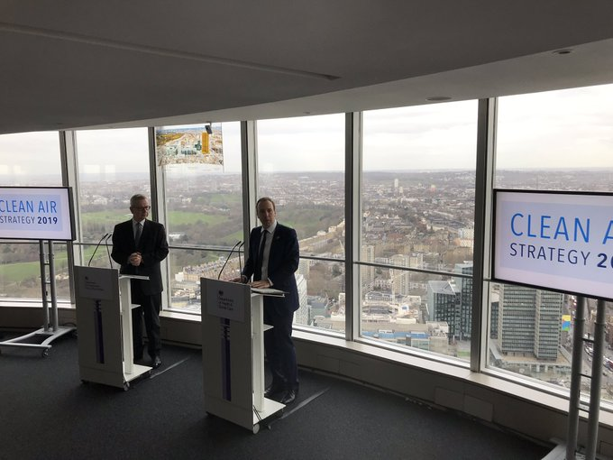 Launch of #cleanairstrategy this morning. 2 out of 3 people with #asthma say air pollution triggers their symptoms, especially traffic fumes. Photo