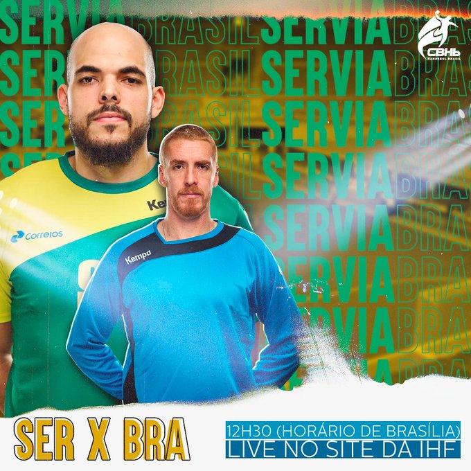 Lá vem mais pedreira! Corre que hoje tem Brasil x Sérvia às 12h30 (horário de Brasília). Pra cima deles guerreiros! 📌Para assistir ao jogo e torcer muito pelos nossos guerreiros, clique no link: #CBHb #Handebol Foto