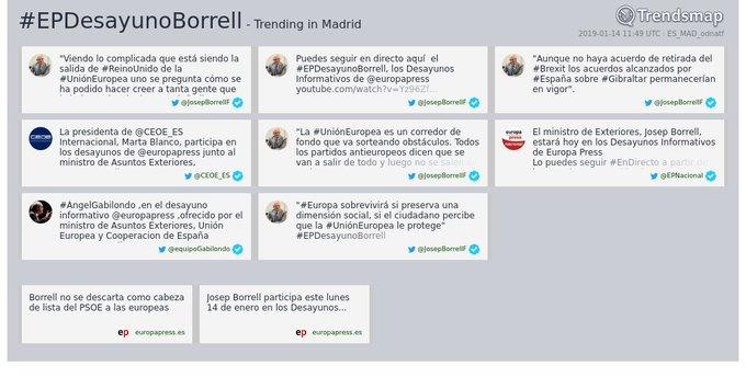 #epdesayunoborrell es ahora una tendencia en #Madrid Foto