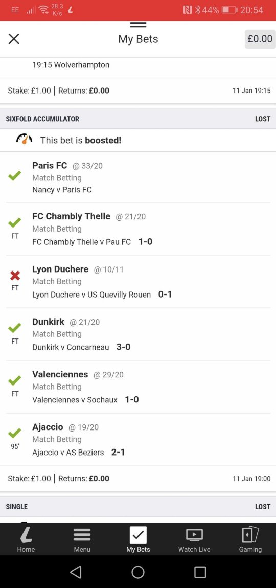 Unlucky @jiner1980!  DM us your Ladrbokes username for a £50 FREE BET on us 👍  #BestAccaAround