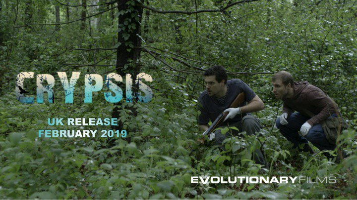 Are they the hunters or the hunted? Watch Crypsis to find out!  #Crypsisiscoming #UKRelease #Horror2019 #HorrorFilm #HorrorMovie #MonsterInTheWoods #Island #CreatureFeature #MonsterMovie #Survival #Escape #CampingTrip #ItsAlwaysWatching @EvoFilmsUK