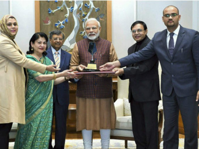 Our PM Shri @narendramodi received first ever Philip Kotler Presidential award for outstanding leadership. Congratulations! Photo