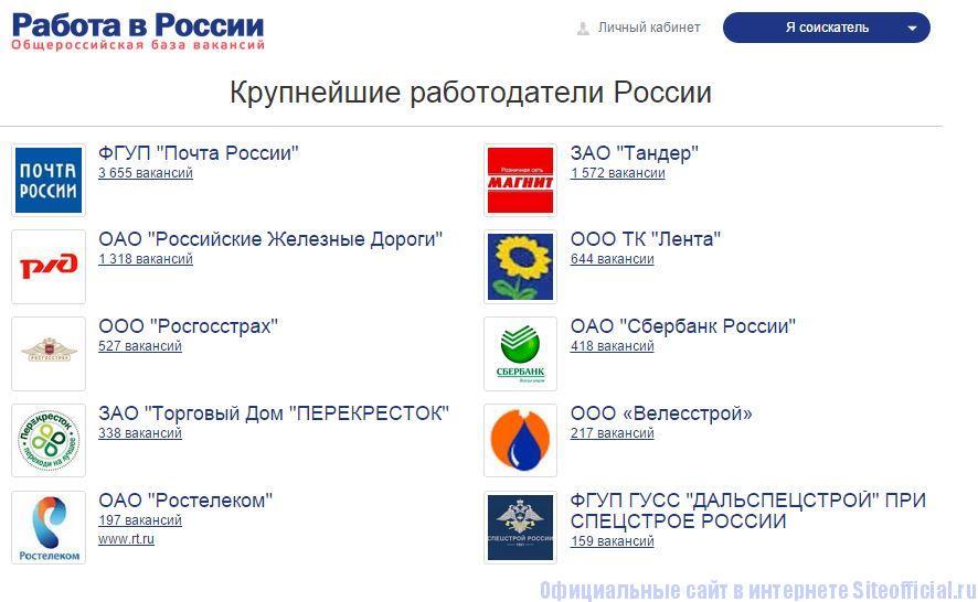 Портал работа в россии вакансии