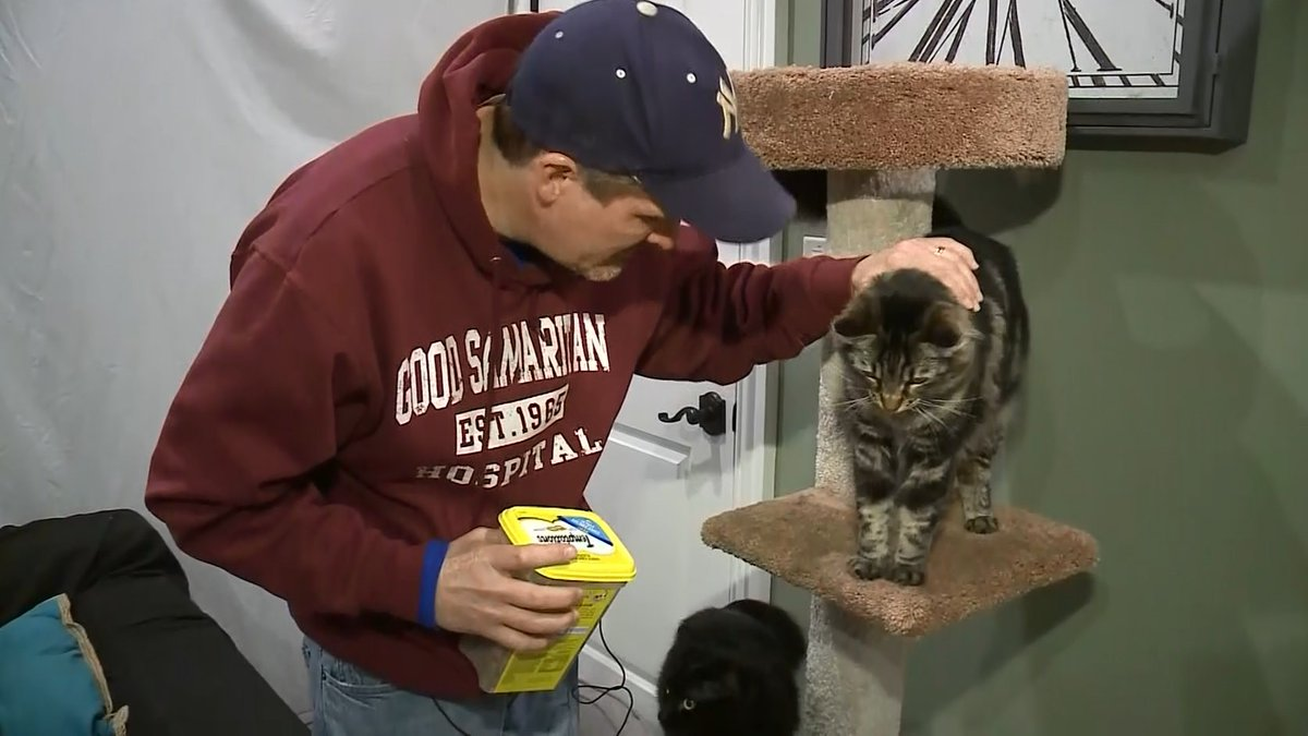 Cat Tenants: Amid the housing crunch, a Silicon Valley man is paying $1,500 a month to house his daughter's two cats in a studio, while she is away at college.   @BettyKPIX reports.  https://cbsloc.al/2QLrDeo