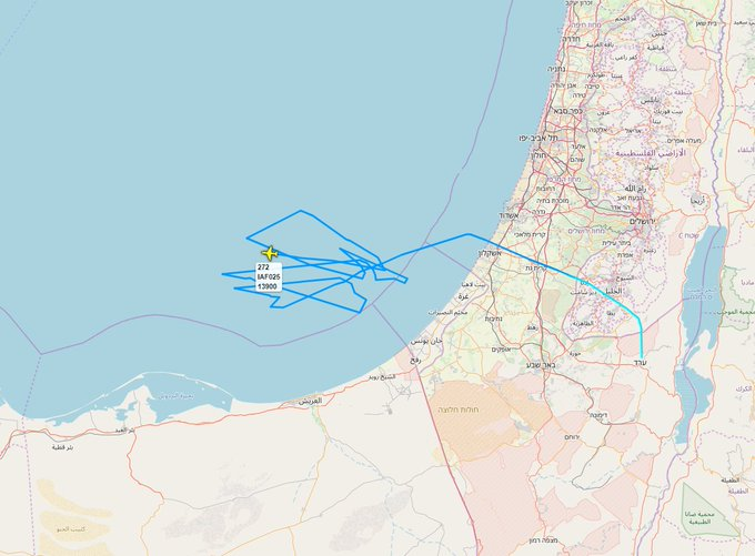 Aerial refueling mission off #Gaza strip for this Israeli Air Force Boeing 707-300 (272). #Israel Фото
