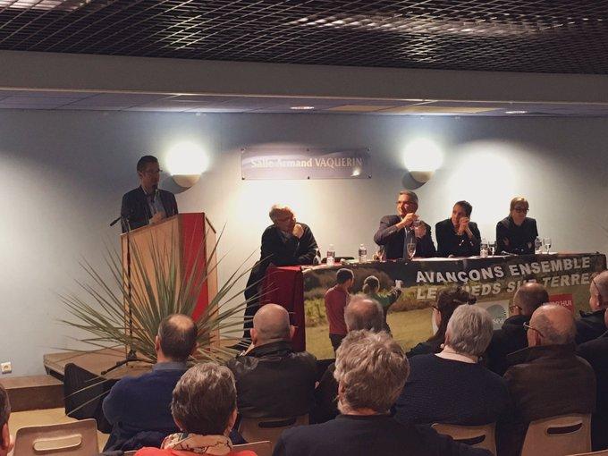 [#ECA2019] 🗳 @JeromeDespey Président sortant de la @chambagri34 «Donner des perspectives à l'agriculture heraultaise avec ses diversitésdans un projet où l'union fait la force» #LesPiedsSurTerre Photo