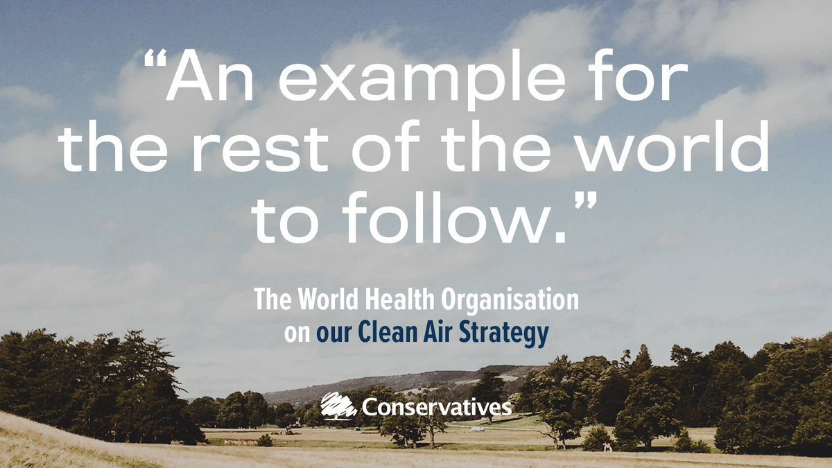 .@DrTedros Adhanom Ghebreyesus, Director-General @WHO on our #CleanAirStrategy: 'I applaud the United Kingdom's Clean Air Strategy, which will not only help to protect the health of millions of people, but is also an example for the rest of the world to follow' 🌳   #ClimateChange