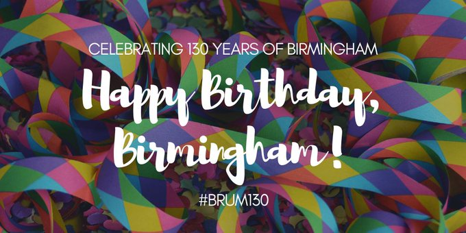 On this day in 1889, our beloved Birmingham was granted city Birthday Bab. 🥳 #Brum130 Photo