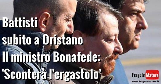 ARRIVATO IN ITALIA #CesareBattisti a #Oristano in ISOLAMENTO Foto