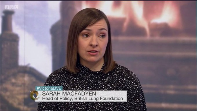 """""""The good news is the government are starting to think seriously about the health effects of air pollution…but the strategy just doesn't go far enough."""" Catch up on @smacfadyen11 discussing the #CleanAirStrategy on @VictoriaLIVE (starts at 35:55) Photo"""