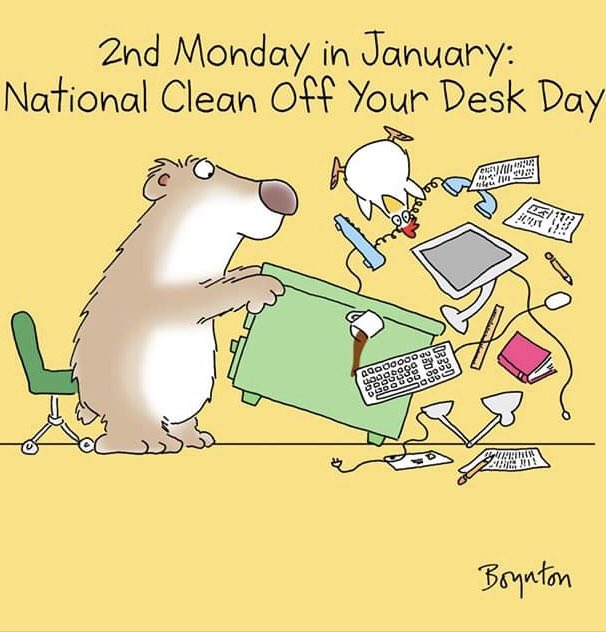 I don't see this working out for me #NationalCleanOffYourDeskDay Photo