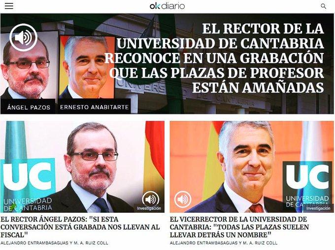 De confirmarse la información publicada por @okdiario @entrammbasaguas es un escándalo para la Universidad de Cantabria, los alumnos que nos esforzamos cada día debemos movilizarnos #CasoCasares #PedroCasares Foto