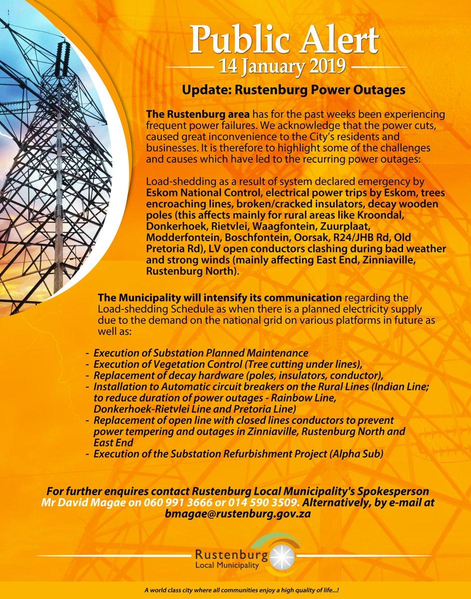 Rustenburg Lm Rustenburglm Twitter Circuit Breakers Pretoria Image 3 2 Replies 1 Retweet Like