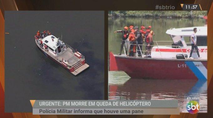 AO VIVO: Especialista em aviação fala sobre a queda do helicóptero da PM #sbtrio Foto