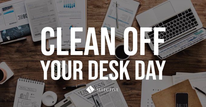 Remember to properly dispose of important documents this #CleanOffYourDeskDay! Photo
