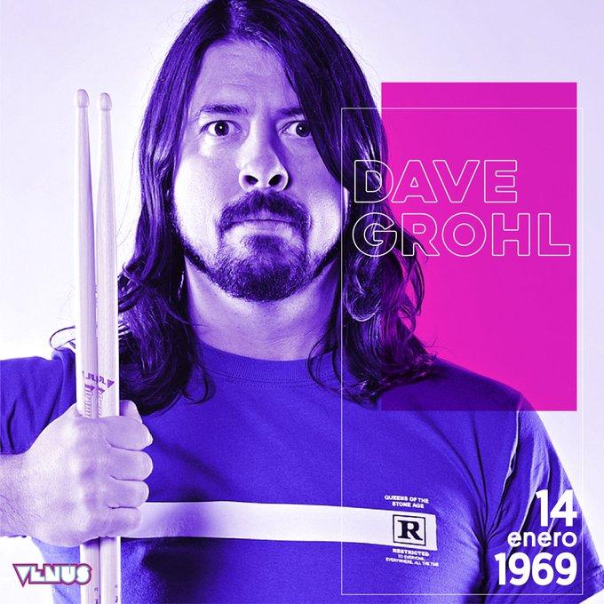 Hoy cumple 50 años Dave Grohl, el líder de @foofighters y ex miembro de Nirvana #HappyBirthdayDaveGrohl 🎈🤘🏻⚡️ Photo