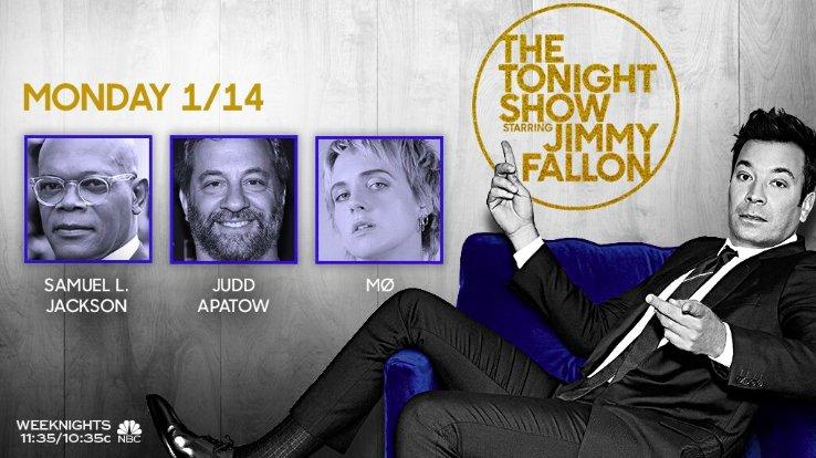 Tonight on the show: @SamuelLJackson, @JuddApatow, and music from @MOMOMOYOUTH! #FallonTonight
