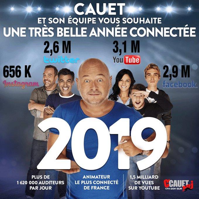 Parce qu'il n'est jamais trop tard pour vous souhaiter une très bonne année connectée sur mes réseaux 😘 #CCauetSurNrj #BonneAnnée2019 Photo
