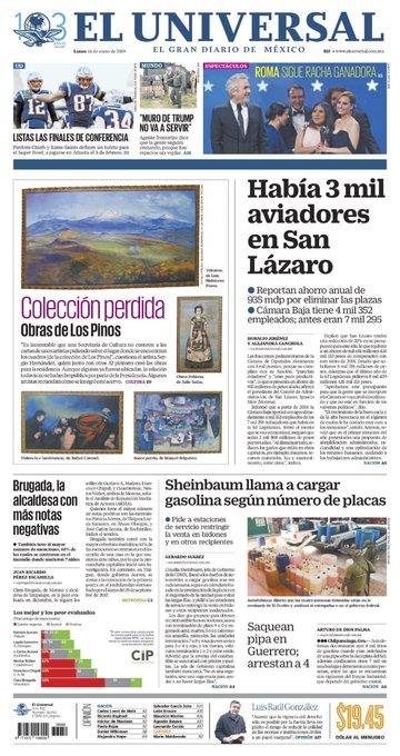 (El Universal) Había 3 mil aviadores en San Lázaro. Reportan ahorro anual de 935 mdp por eliminar las plazas. Foto