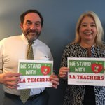 We stand with our sisters and brothers from @UTLAnow as they fight for their students and schools. #UTLAstrong #RedForEd #1u