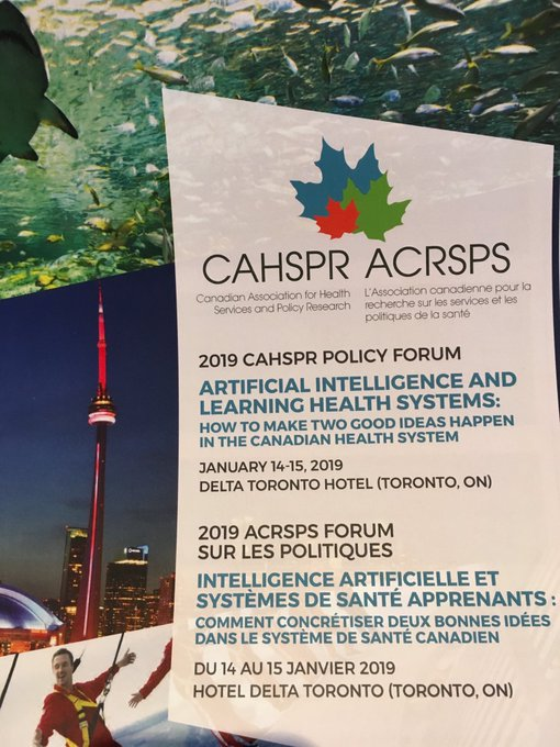 Kicking off the #CAHSPRforum2019 with an excellent commentary on the rapid learning health system from McMaster's @forumHSS John Lavis. This is a model that everyone - patients, clinicians, technologists - can see themselves in. Big opportunity for our health system. Photo