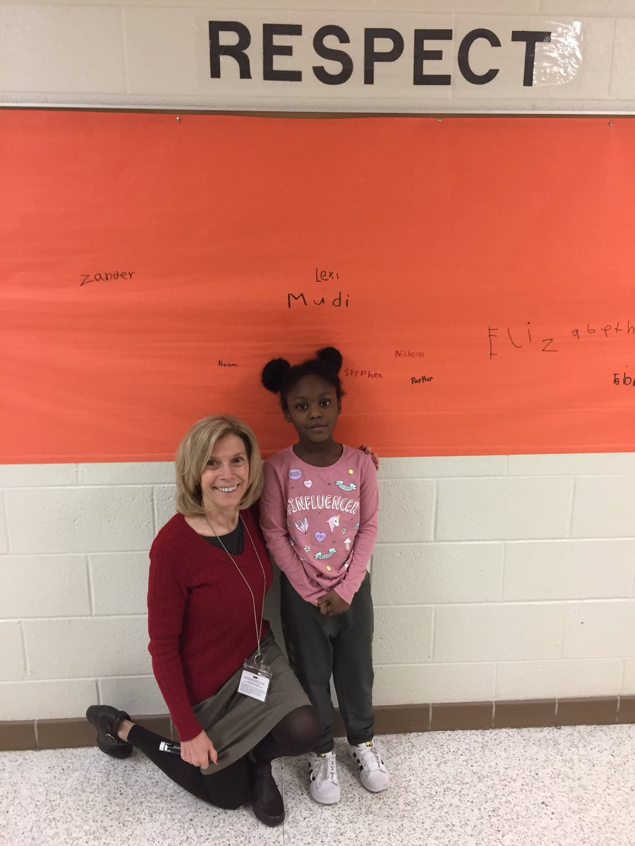 """This 1st grader is exemplifying """"Respect"""" at Glenwood ES."""